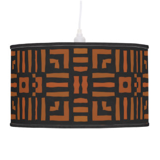 Warm African Geometric Tribal Design Hanging Lamp