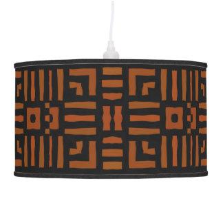Warm African Geometric Tribal Design Pendant Lamp