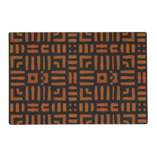 Warm African Geometric Tribal Design Placemat