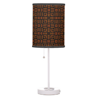 Warm African Geometric Tribal Design Table Lamp