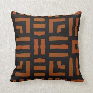 Warm African Tribal Design Pillow