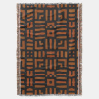 Warm African Tribal Design Throw