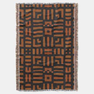 Warm African Tribal Design Throw