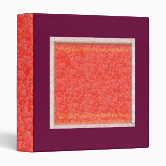 Warm AMBER Brilliance - Add your text in White Binders