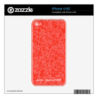 Warm AMBER Brilliance - Add your text in White iPhone 4S Skins
