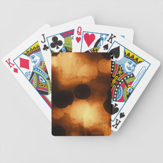 Warm Amber Pattern 2 Bicycle Playing Cards