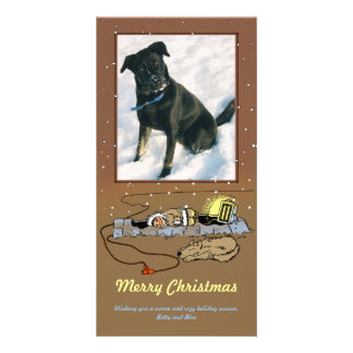 Warm and Cozy Christmas Photo Card