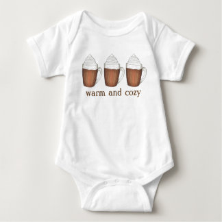Warm and Cozy Holiday Hot Cocoa Chocolate Drink Baby Bodysuit