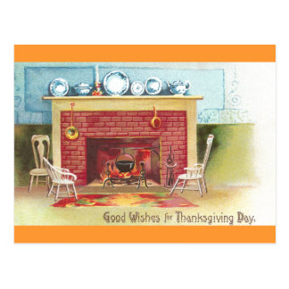 Warm and Cozy Thanksgiving Postcard