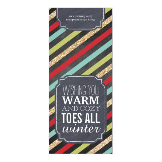 """""""Warm and Cozy Toes"""" - Gift tag for wrapping socks Card"""