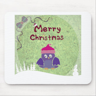 warm and fuzzy penguin Christmas Mouse Pad