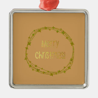 Warm and Lovely Christmassy Metal Ornament