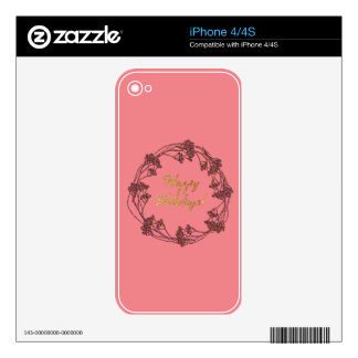 Warm and Lovely Christmassy Skins For The iPhone 4