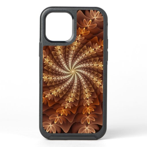 Warm Autumn Colors, Modern Abstract Fractal Art OtterBox Symmetry iPhone 12 Case