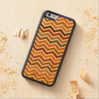 Warm Autumn Colors Wavy Stripes Wood iPhone 6 case
