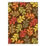 Warm Autumn Leaves Greeting Card