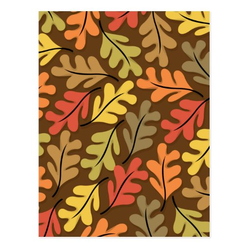 Warm Autumn Leaves Post Cards