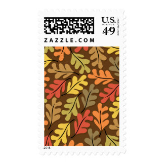 Warm Autumn Leaves Postage Stamp