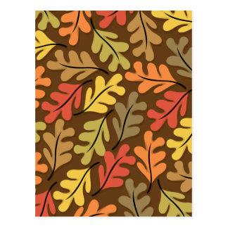 Warm Autumn Leaves Postcard