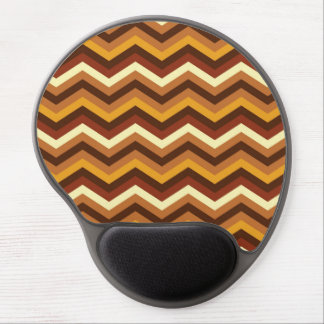 Warm Autumn Retro Chevron Personalized Gel Mouse Pad