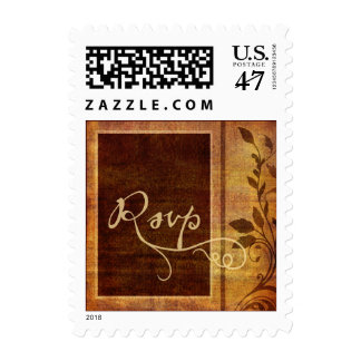 Warm Autumn Romance Affordable RSVP Square Stamp