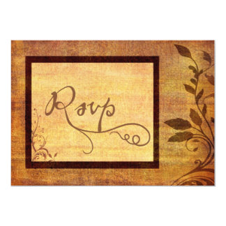Warm Autumn Romance Affordable Wedding RSVP Card