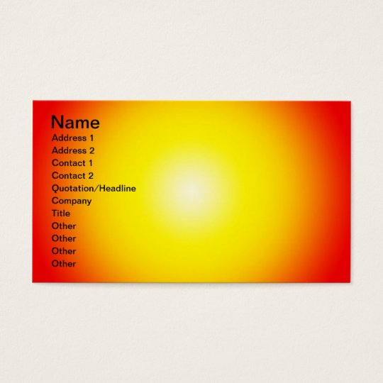 Warm Background, Name, Address 1, Address 2, Co... Business Card
