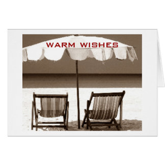 WARM BEACHY WISHES FOR CHRISTMAS CARD