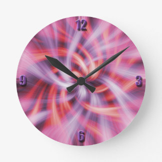 Warm Breeze Swirls Wall Clock