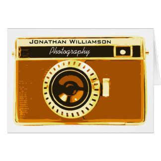 Warm Brown Camera Photography Business Card