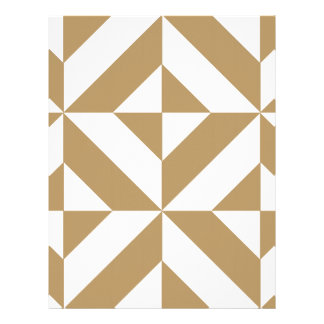 Warm Brown Geometric Deco Cube Scrapbook Paper