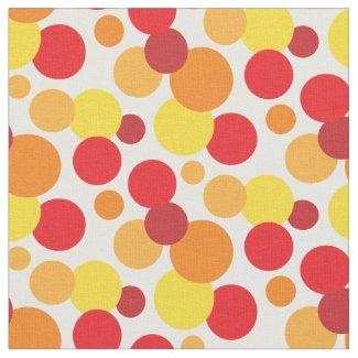 Warm Bubbles Orange Yellow Red Spot Pattern Fabric