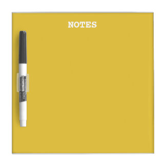 Warm Butterscotch Solid Color Dry Erase Board
