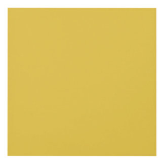 Warm Butterscotch Solid Color Panel Wall Art