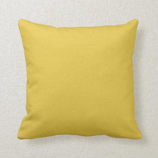 Warm Butterscotch Solid Color Pillow