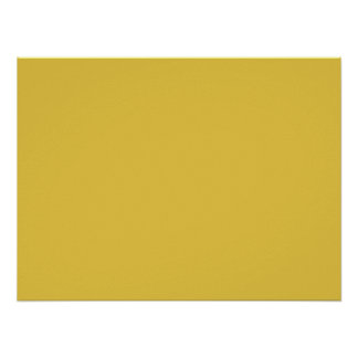 Warm Butterscotch Solid Color Poster