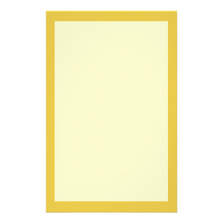 Warm Butterscotch Solid Color Stationery