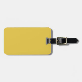Warm Butterscotch Solid Color Tag For Luggage