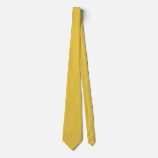 Warm Butterscotch Solid Color Tie