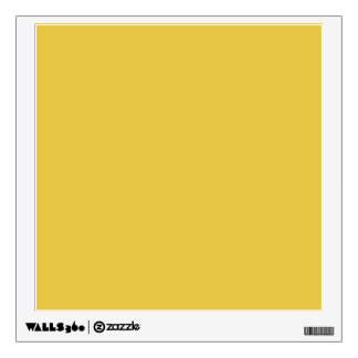 Warm Butterscotch Solid Color Wall Sticker