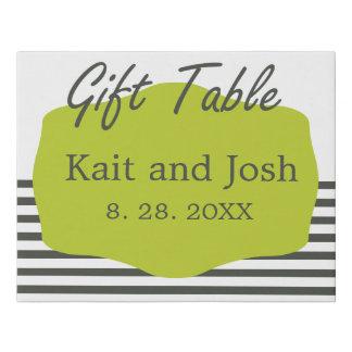 Warm Charcoal Minimalist Gift Table Sign