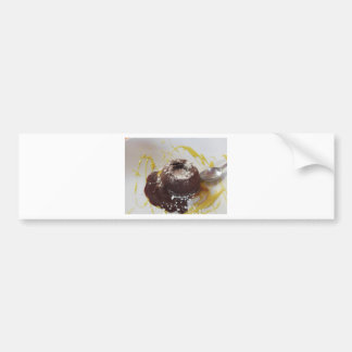 Warm chocolate fondant lava cake dessert bumper sticker