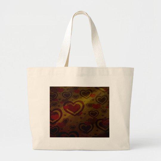 Warm Chocolate Large Tote Bag