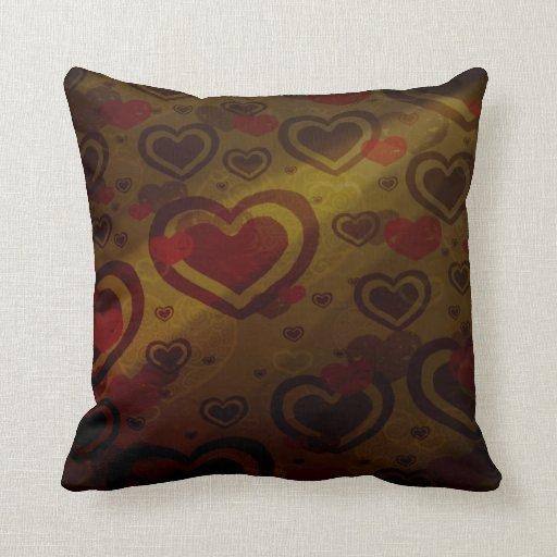 Warm Chocolate Throw Pillow