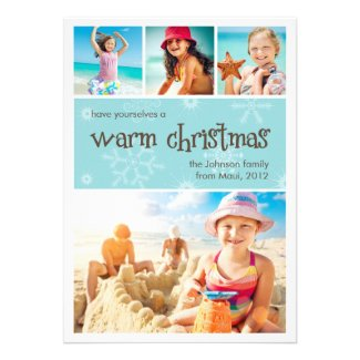 Warm Christmas 4 Photo Holiday Card