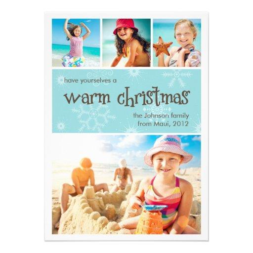 Warm Christmas 4 Photo Holiday Card