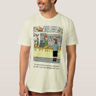 Warm Coffee Cartoon T-Shirt