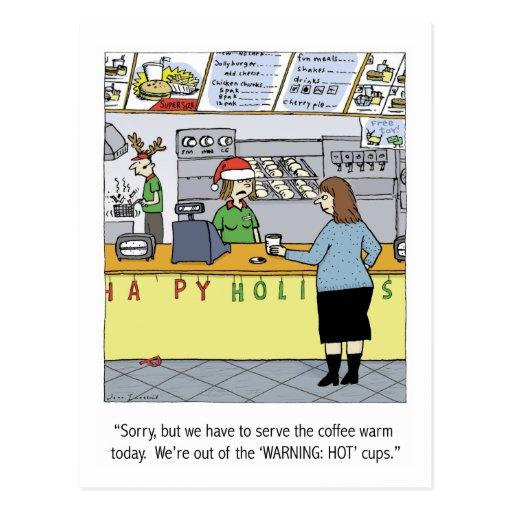 Warm Coffee Holiday Postcard