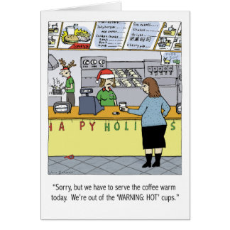 Warm Coffee Holiday Stationery Note Card
