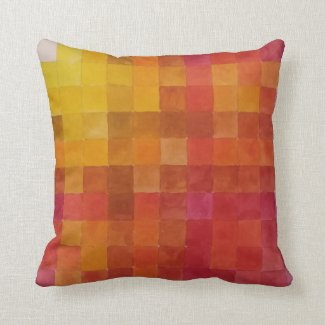 Warm Color Chart Pillow